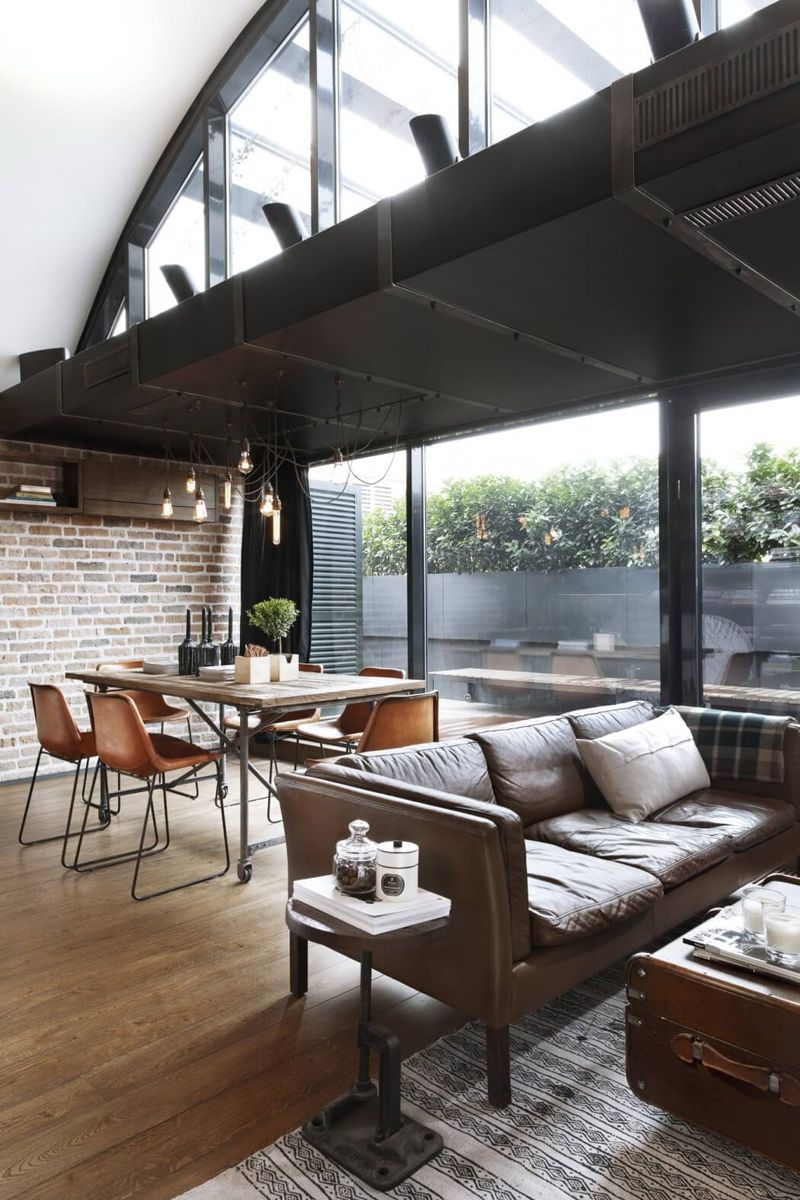 Top 10 Charming Apartments Decorated in Industrial