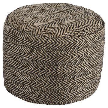Chevron Pouf - Ashley Furniture