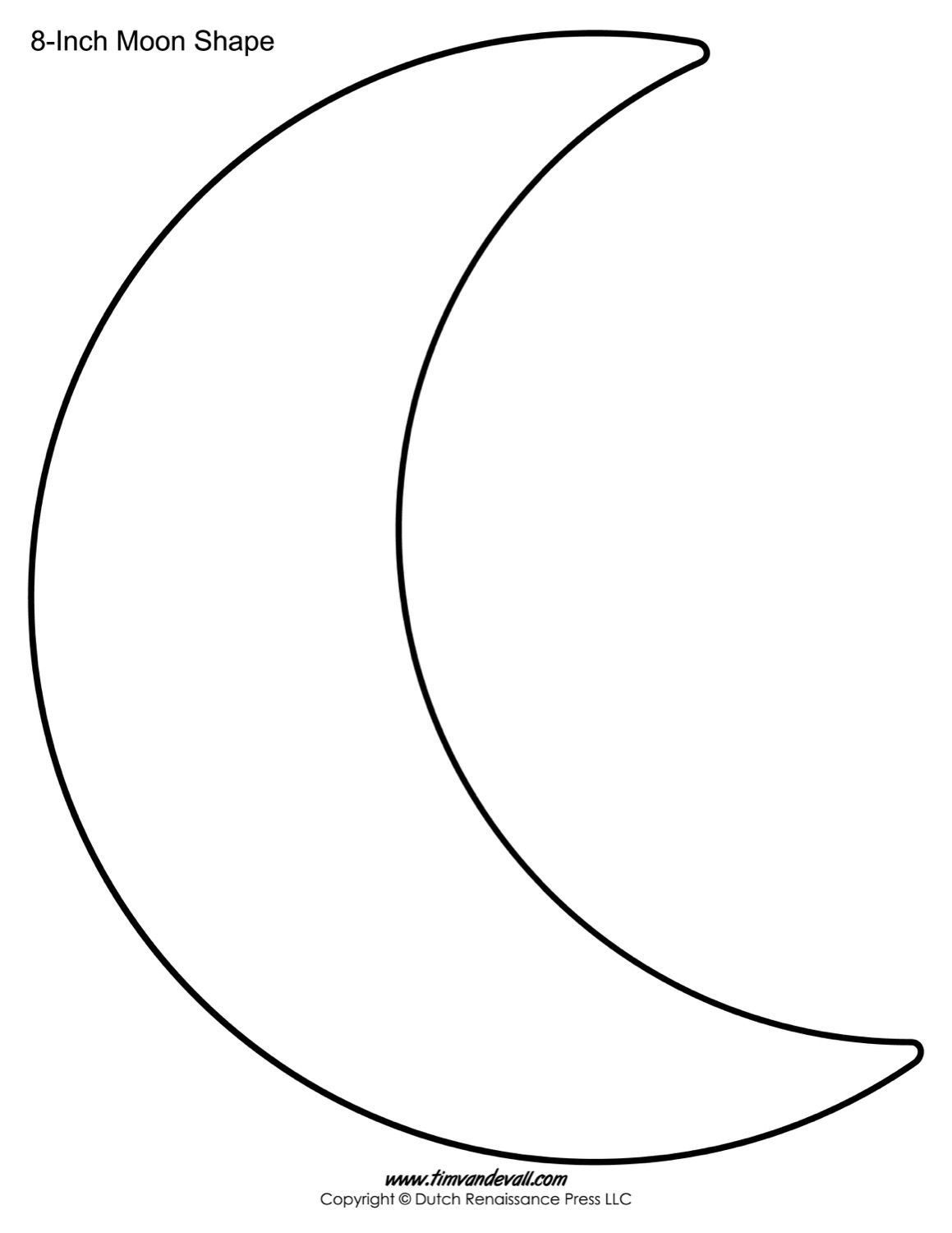 Blank Moon Templates With Images