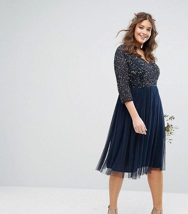 Vestido Boda Tallas Grandes Invitada Curvy Perfecta Blog Dress Vestidos De Novia Sencillos Falda De Tul Vestidos De Talla Grande