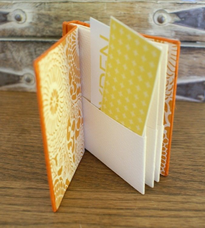 Hand Crafted Business Card Books cute idea | Stab binding ...