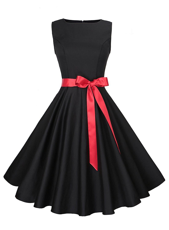 Anni Coco Women s Classy Audrey Hepburn 1950s Vintage Rockabilly Swing  Dress  Amazon  Fashion  Style  Outfits  Women c72277a28d