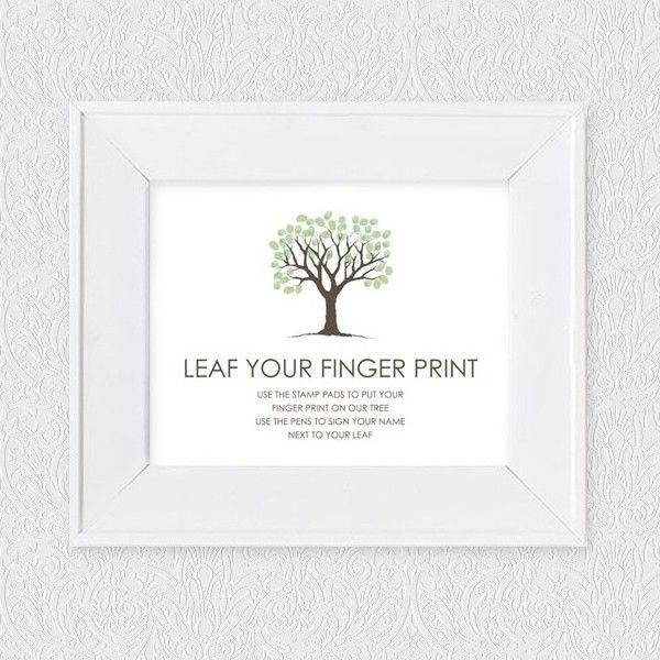 Free fingerprint tree guest book instruction sign craft ideas free fingerprint tree guest book instruction sign sciox Images