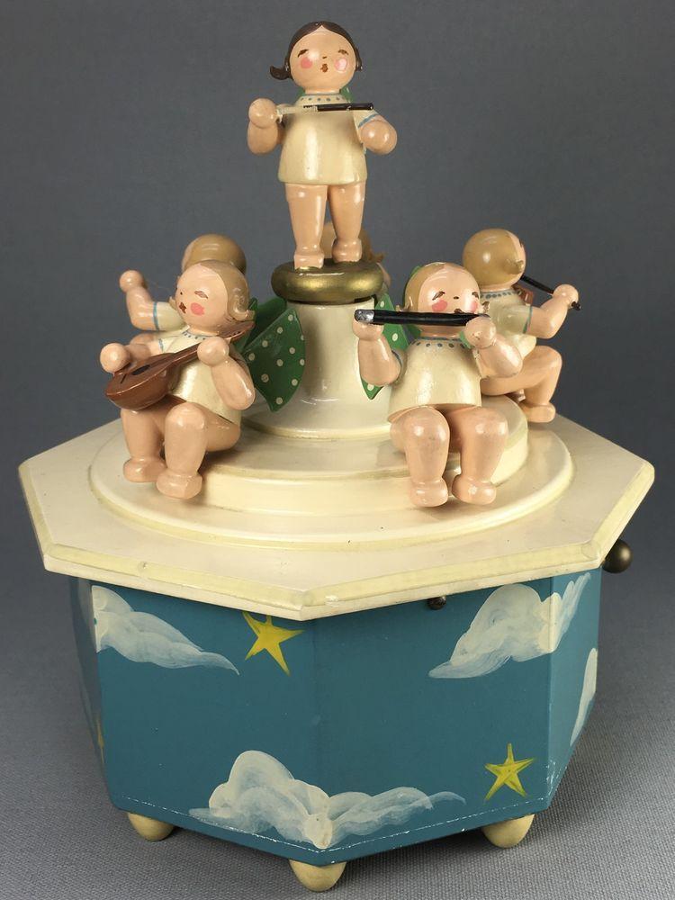 Spieluhr Wendt Kuhn Erzgebirge Musizierende Engel Engelkapelle Rariritat Christmas Advent Music Box Christmas