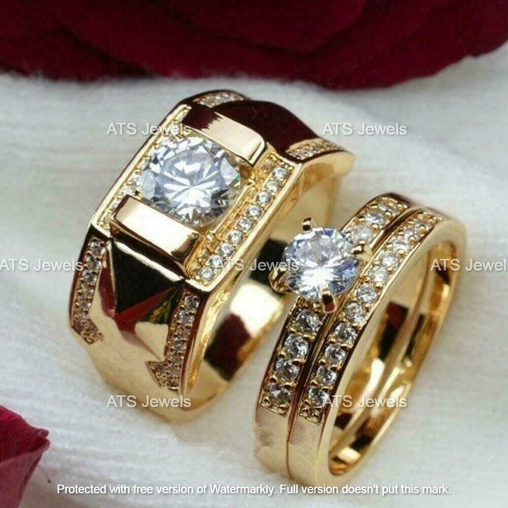 White Gold  Gold Rings with Diamond Couple Wedding Band Engagement Rings Wedding Ring engagement rings Diamond goldrings Ladies ring