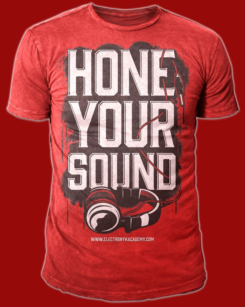 T shirt design red - T Shirt Design For Hone Your Sound By Twicolabs
