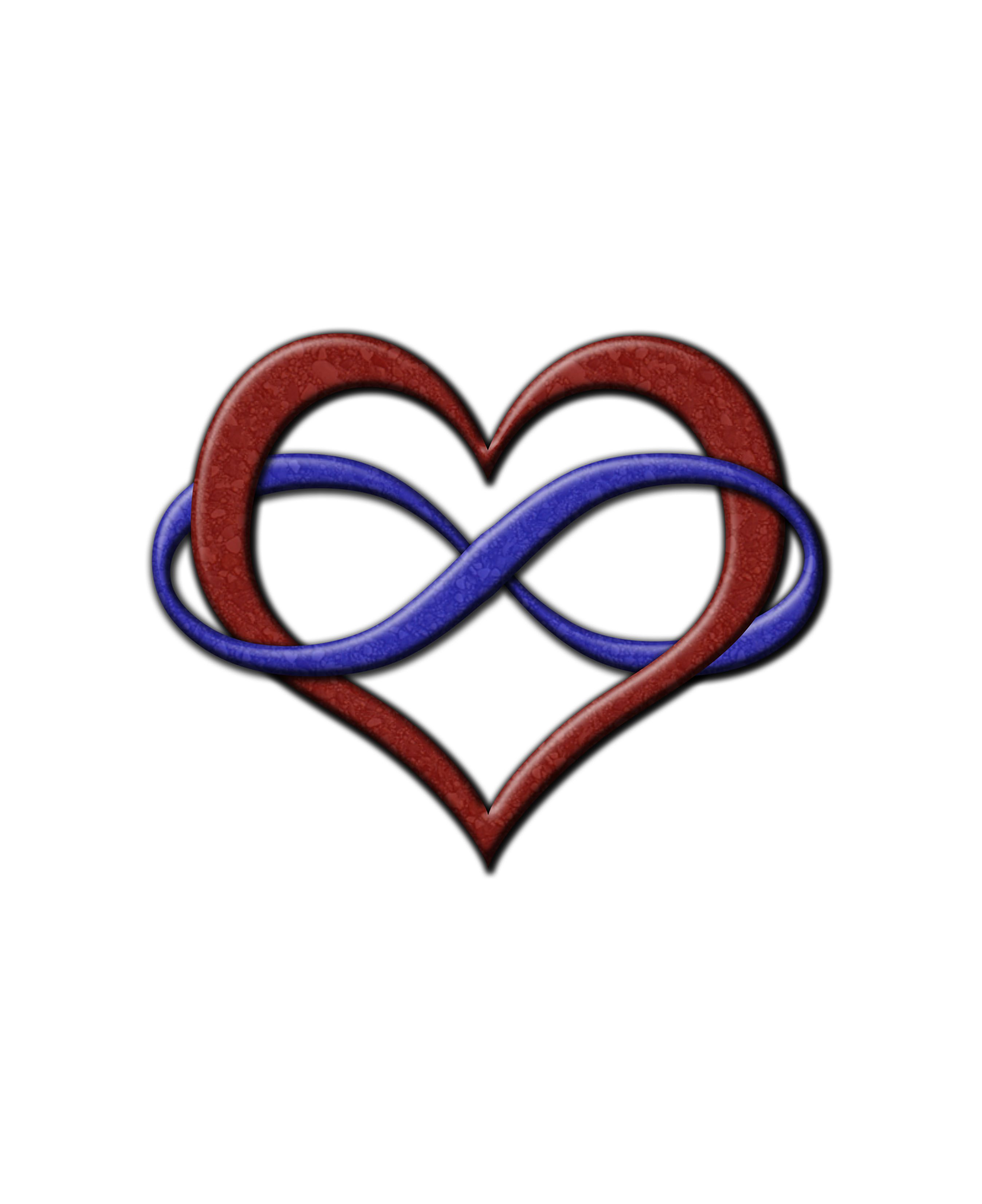 Polyamory Pride Infinity Heart Symbol In Pride Flag Colors Click To