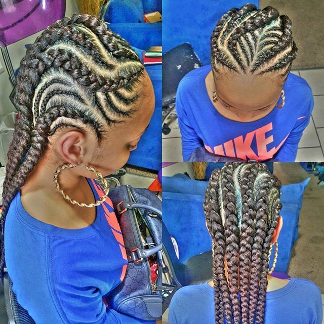 Braids going back | Braids & twists | Pinterest | Hair ...