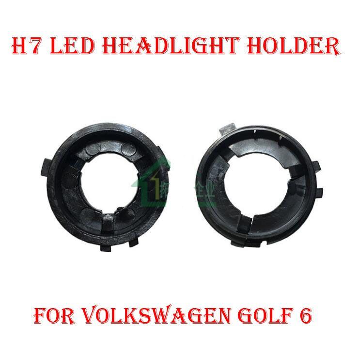 2pcs H7 Led Headlight Conversion Kit Bulb Holder Adapter Base Retainer Socket For Volkswagen Vw Golf 6 Touran Sharan S Volkswagen Volkswagen Scirocco Vw Sharan