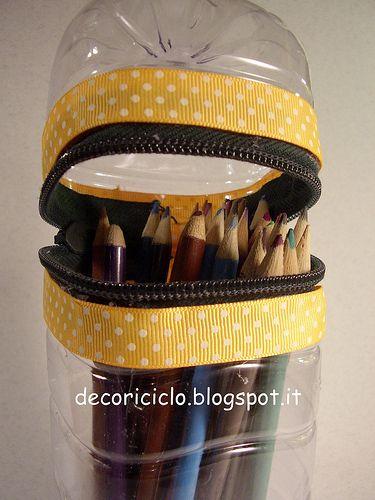 plastic bottle pencil holder 3