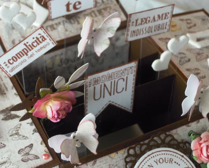 MDS - Magie Di Stoffa: Una box card romantica....
