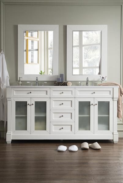 weston 72 james martin cottage white bathroom vanity w glass doors rh pinterest com