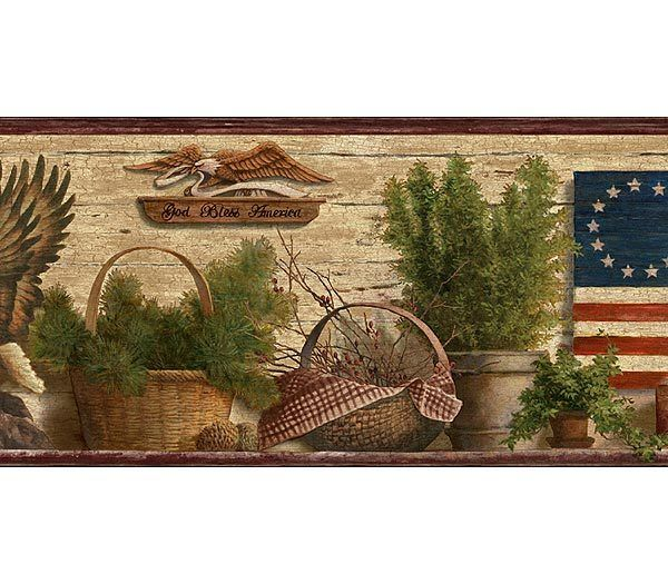 Interior Place Burgundy and Brown Lodge Eagles Wallpaper