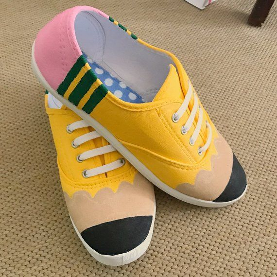 93c55b6da7143 Pencil Shoes- Hand painted custom design in 2019 | Products | Pencil ...
