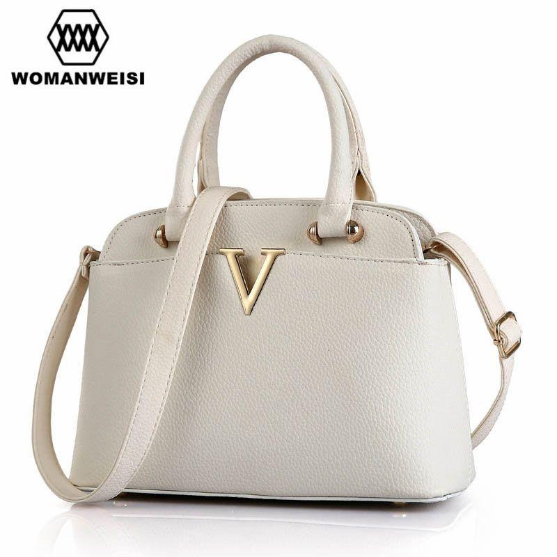 4e4734d20a9 Luxury Handbags Women Bags Designer Brand Metal Letter V Female Leather  Messenger Bags Cross-body Shoulder Bags For Girls Tassen