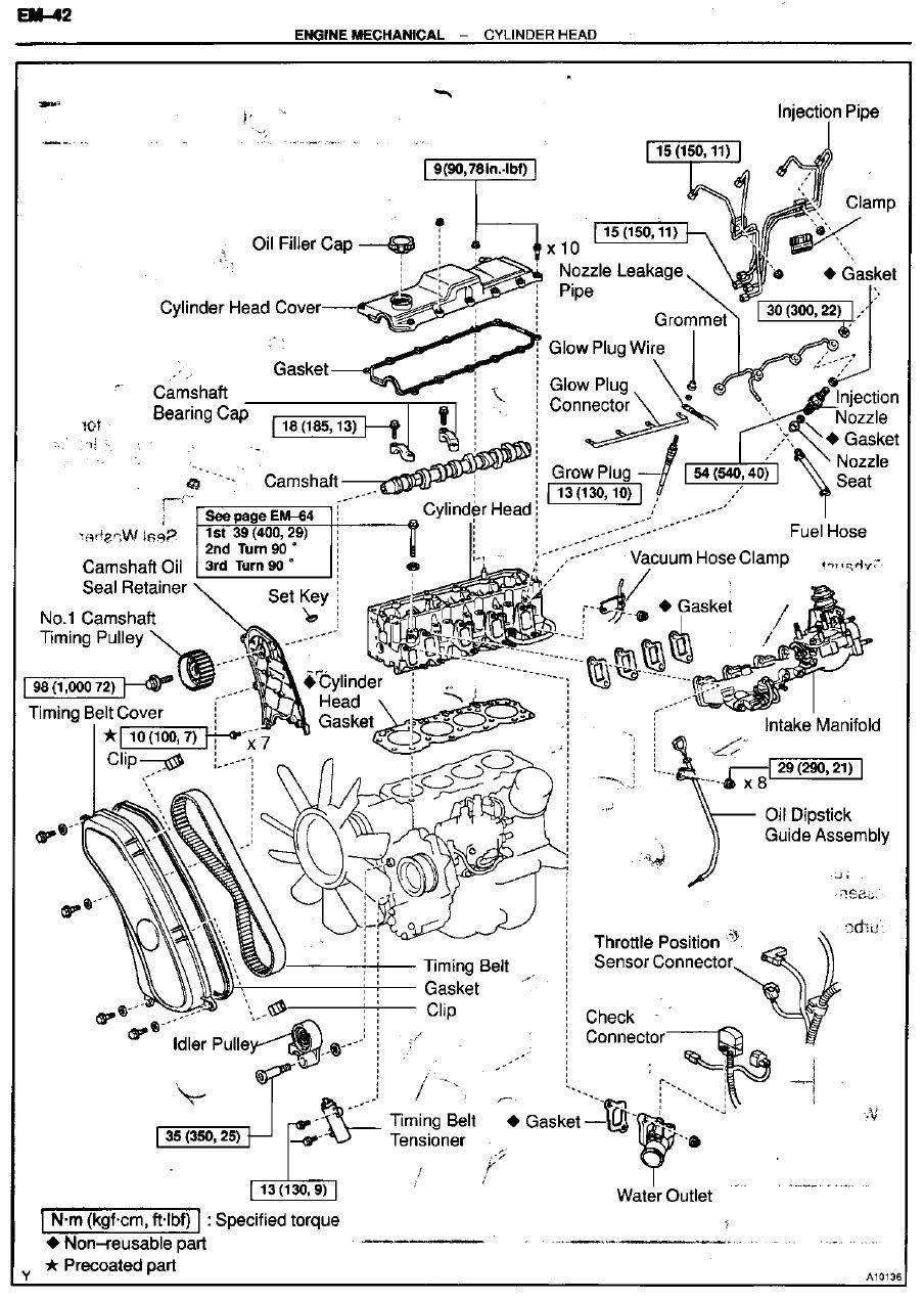 1kz te motor diagram
