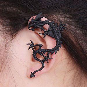 be7de93ef Fashion Gothic Punk Metal Vintage Style Fly Dragon Ear Cuff Wrap Clip  Earring #dragon #earcuff