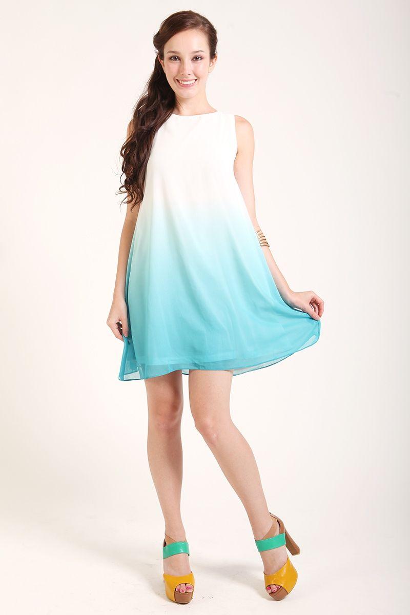 Ombre Trapeze Dress