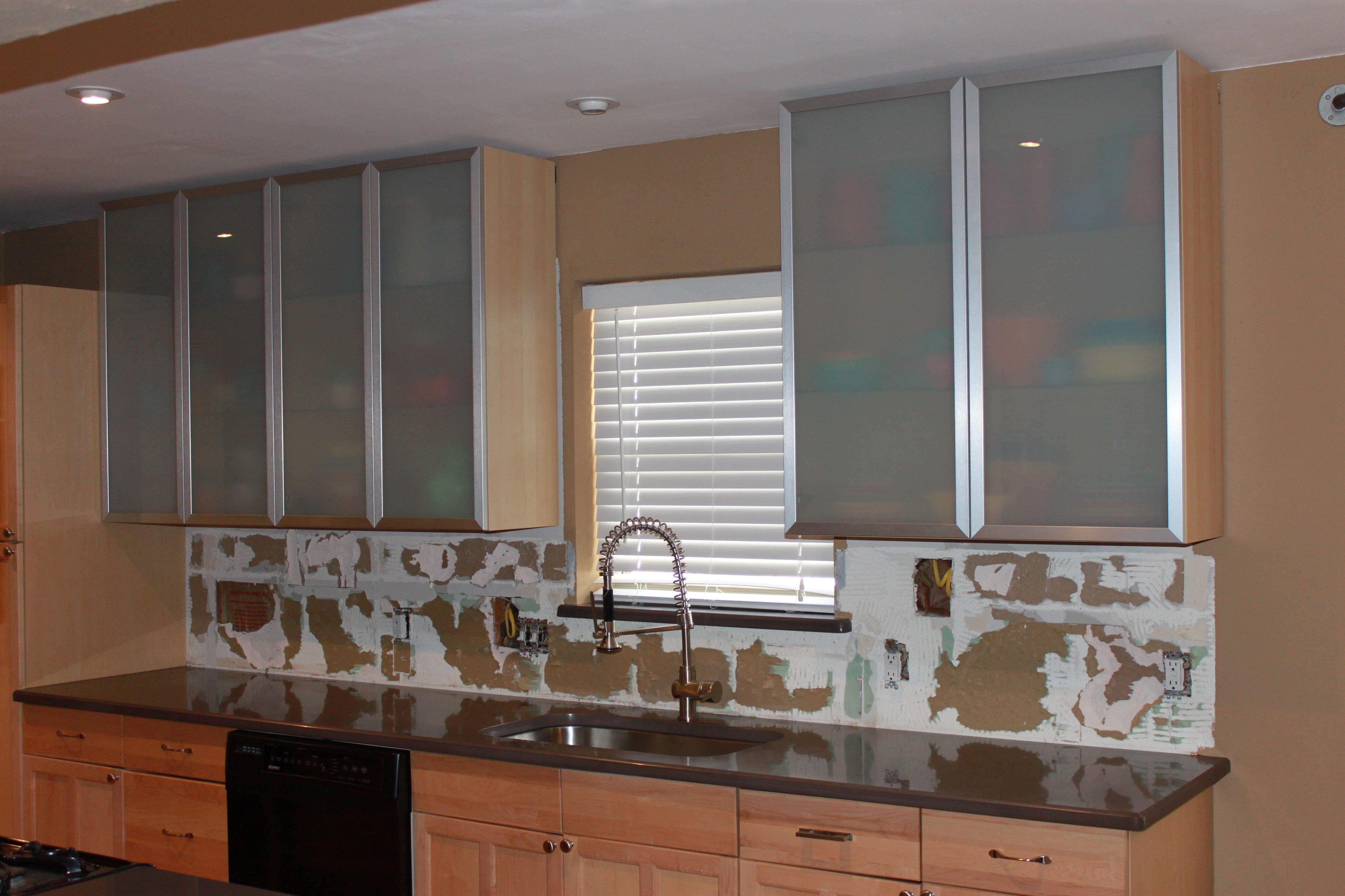 Wall Mounted Glass Kitchen Cabinets Kitchen Cabinets Pinterest