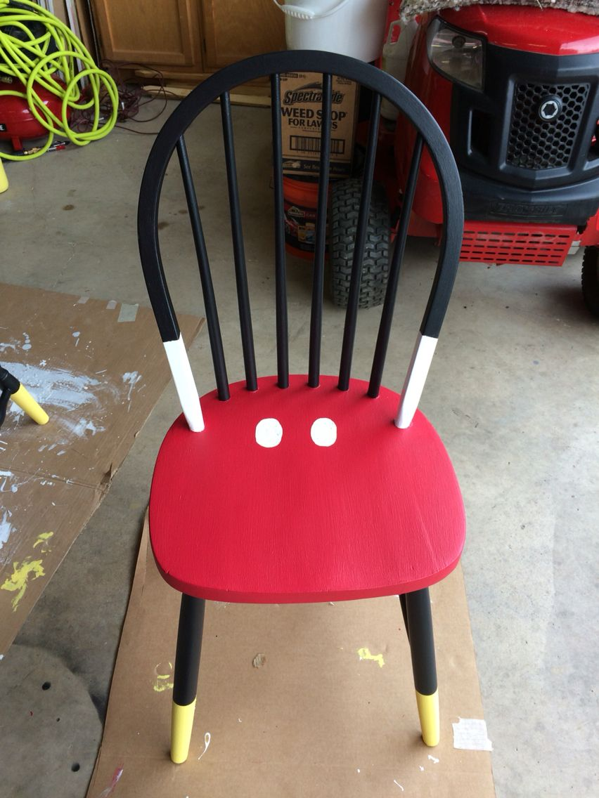 Mickey Mouse Time Out Chair Diy Projects Pinterest