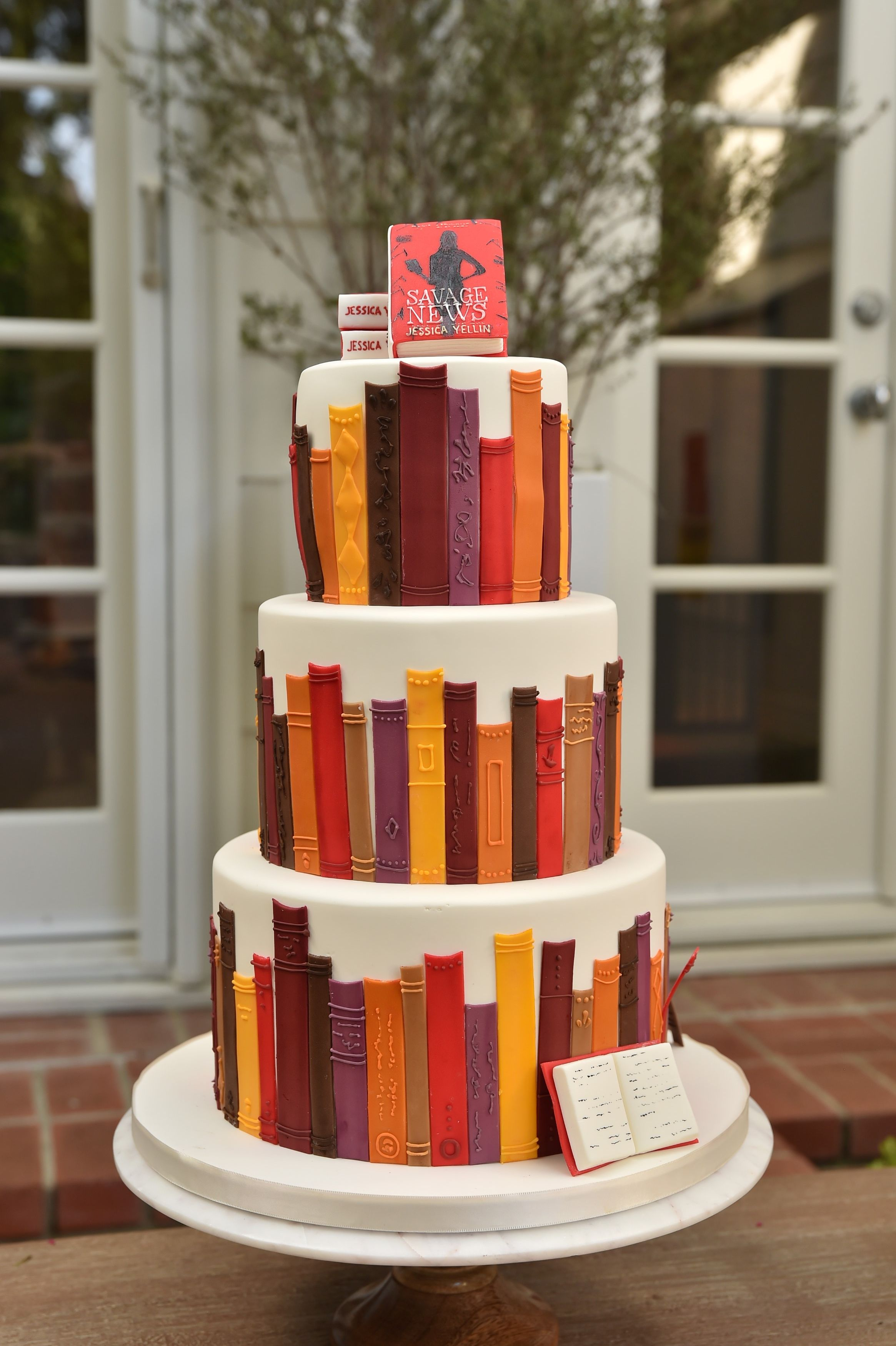 Book Cake In 2020 Book Themed Party Book Cake Book Launch Party