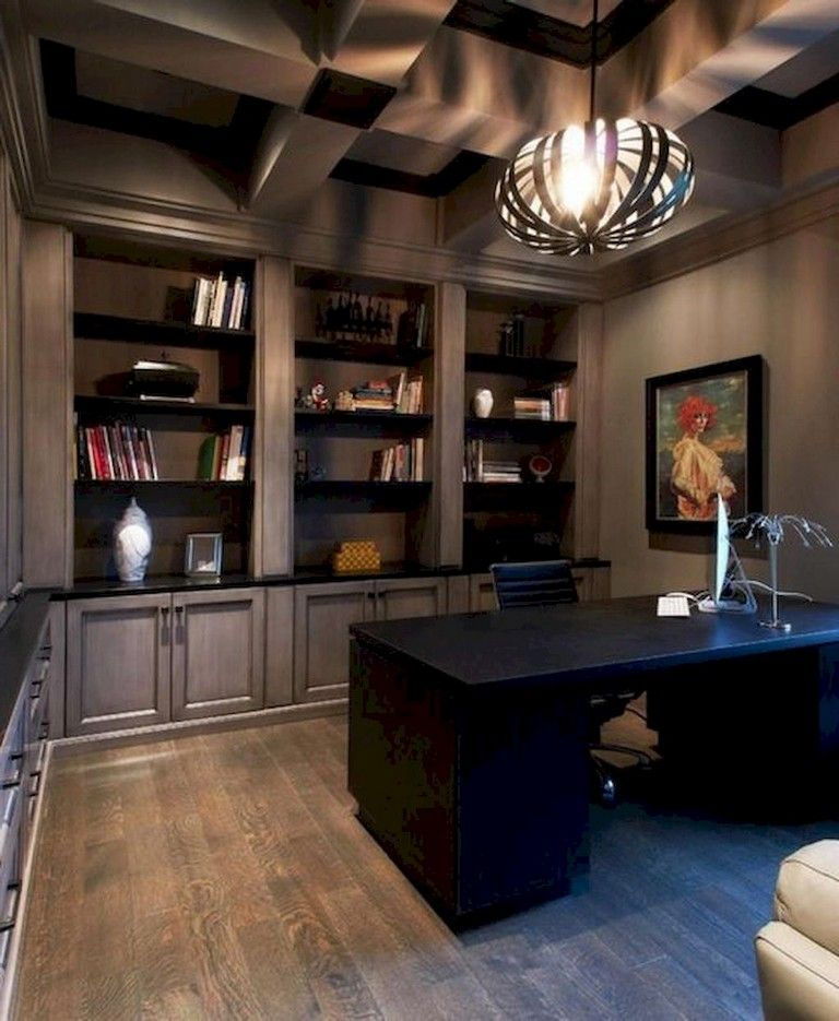 70+ Awesome Contemporary Home Office Ideas Home library