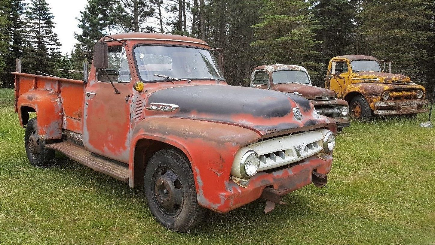 Low mileage hauler 1953 ford f350 truck http barnfinds