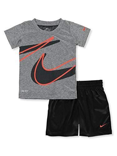 2eecfb6bfb Nike Baby Boys' Dri-Fit 2-Piece Shorts Set Outfit - Black | Clothes ...