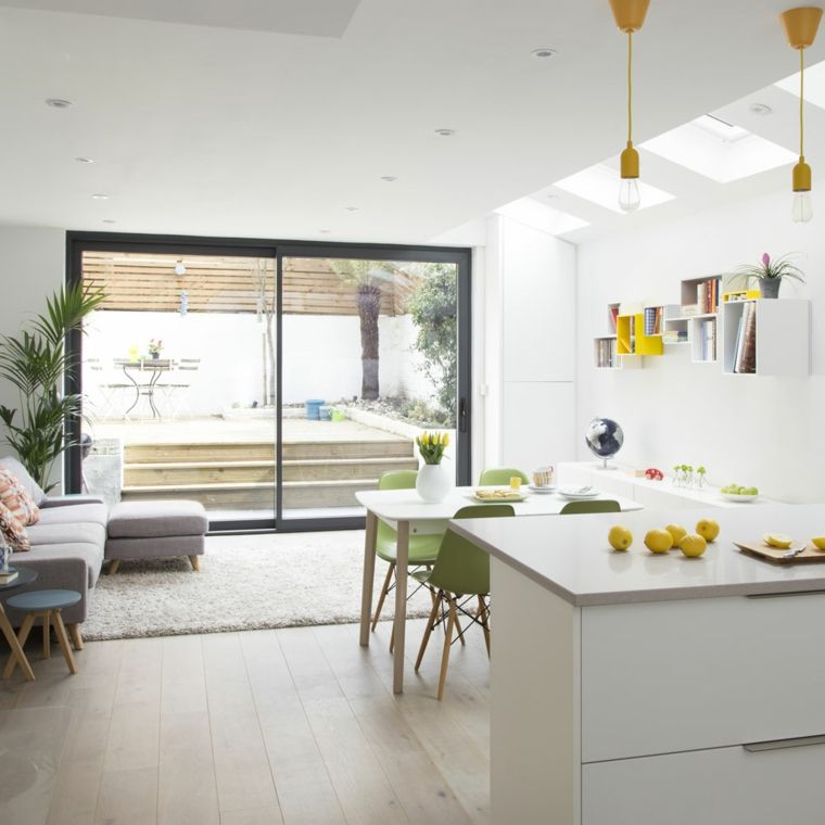 come arredare open space cucina soggiorno con mobili della cucina ...