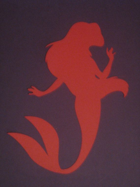 Disney Princess Ariel Silhouettes for by ThePaperdollPrincess, $5.00