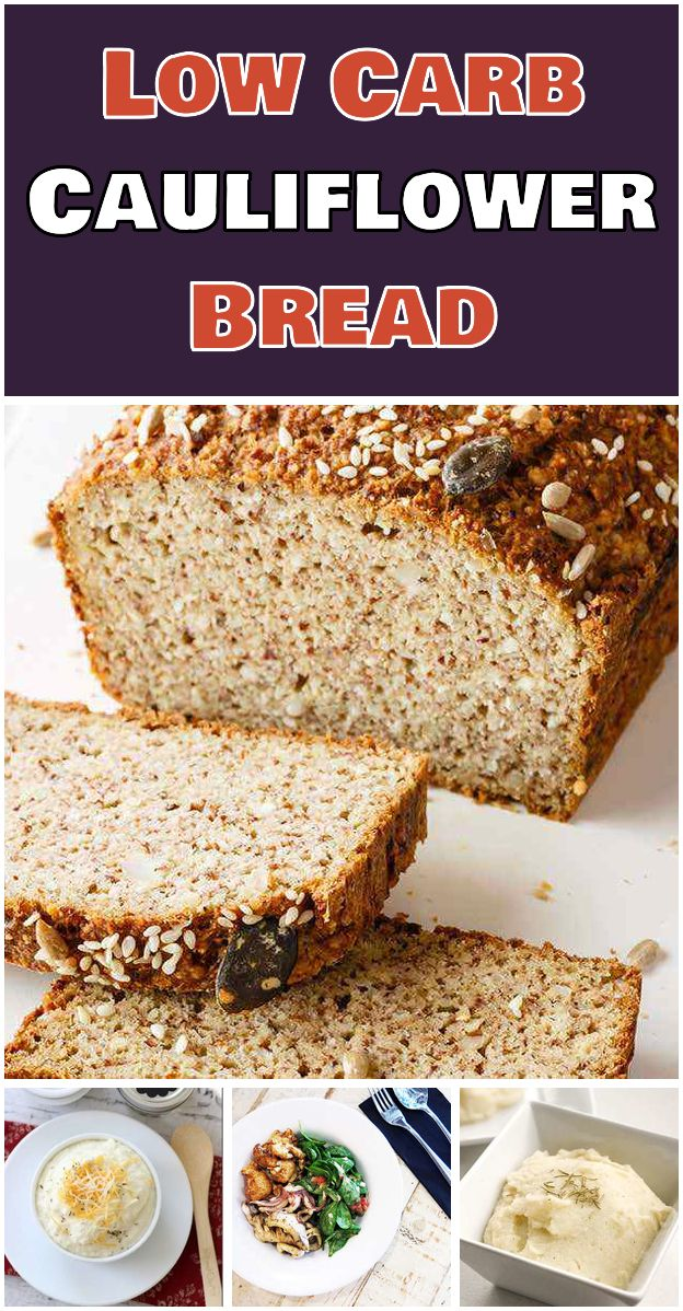 Low Carb Cauliflower Bread This Low Carb Cauliflower Bread Uses A
