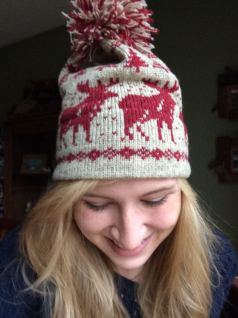 My new home alone moose hat! Knitting Sweaters 8ce5e238222