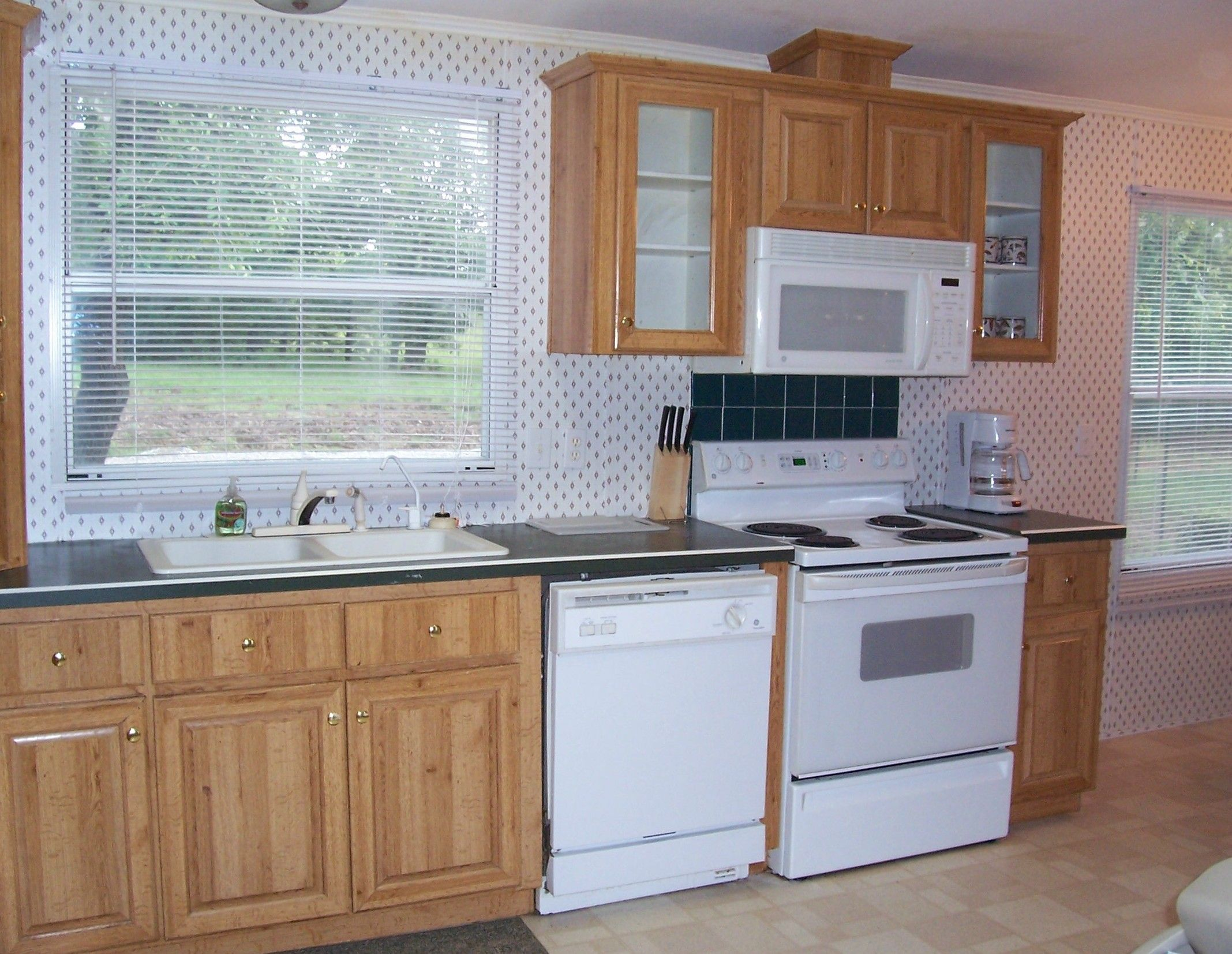 Dishwasher next to stove