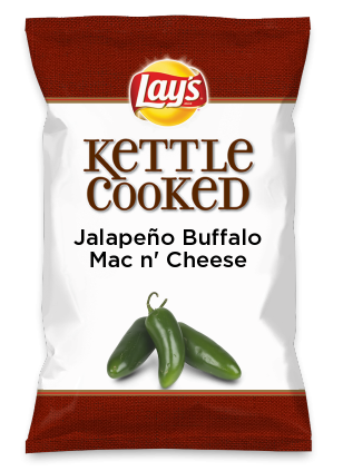 Wouldn't Jalapeño Buffalo Mac n' Cheese be yummy as a chip? Lay's Do Us A Flavor is back, and the search is on for the yummiest flavor idea. Create a flavor, choose a chip and you could win $1 million! https://www.dousaflavor.com See Rules.