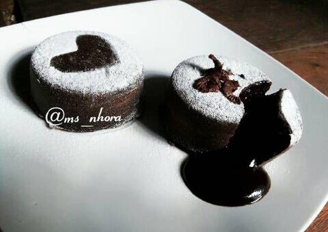 Resep Steamed Chocolate Lava Cake Oleh Miss Nora Resep Resep Kue Coklat Cokelat Makanan