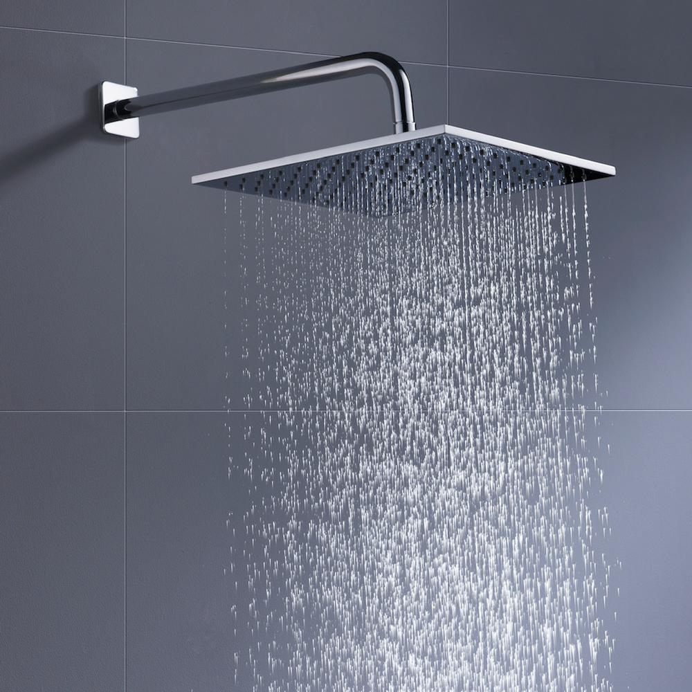 Solid Metal 12 Inch Square Rain Shower Head Drenching 2 5 Gpm
