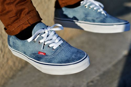 Blue washed out Vans | Shoes | Pinterest | Shoes, Love and Van