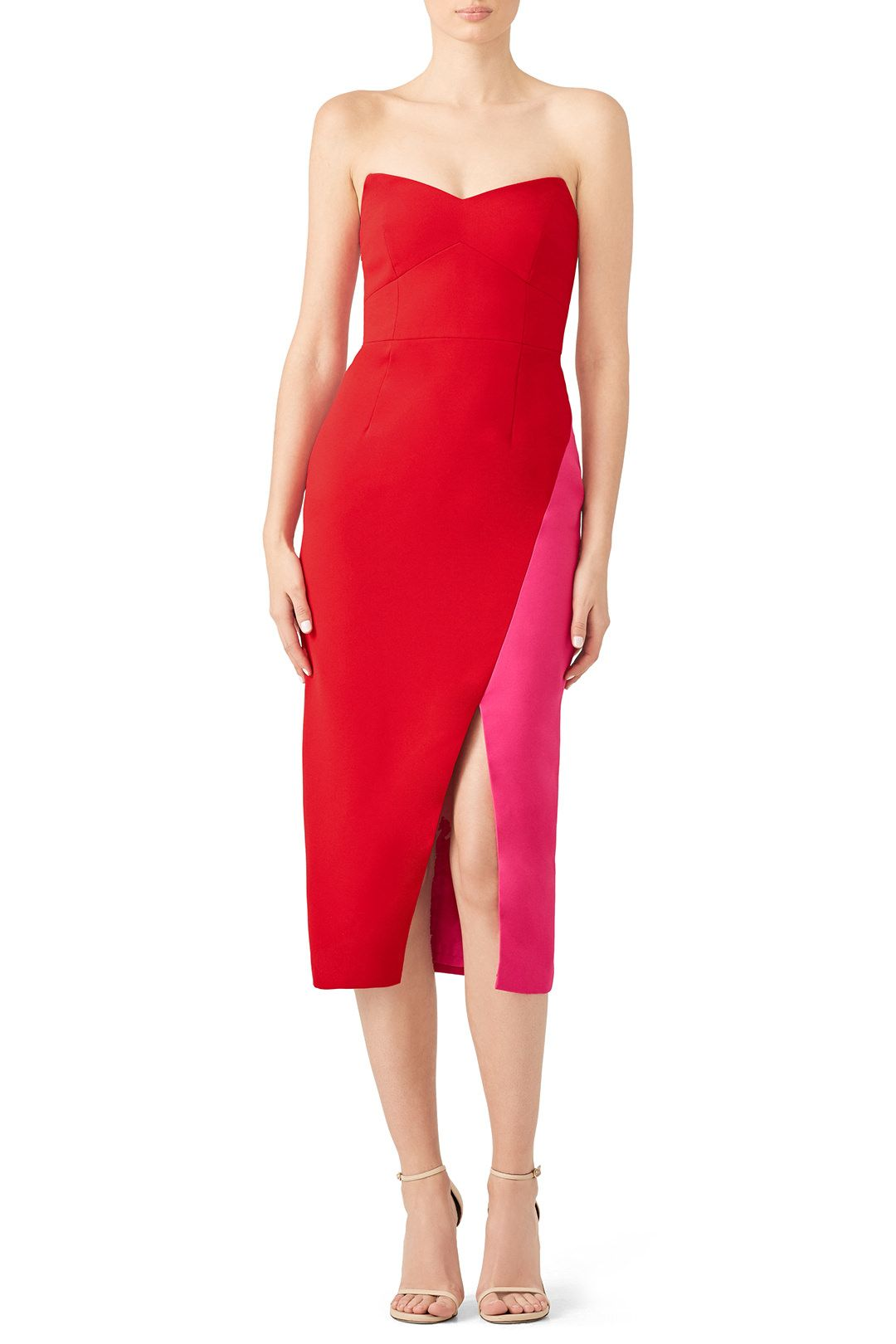 89c10c82 Rent Red Colorblock Sheath by Jill Jill Stuart for $55 - $70 only at Rent  the Runway.