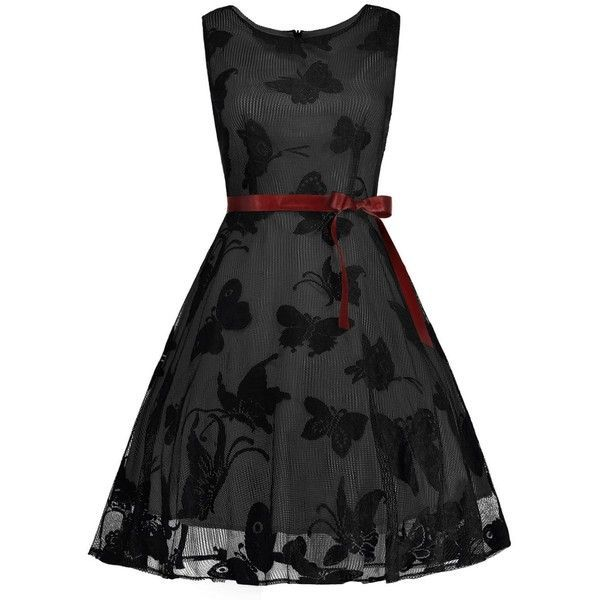 7fe636e2273a7 Plus Size Butterfly Jacquard A Line Prom Dress ( 24) ❤ liked on Polyvore  featuring