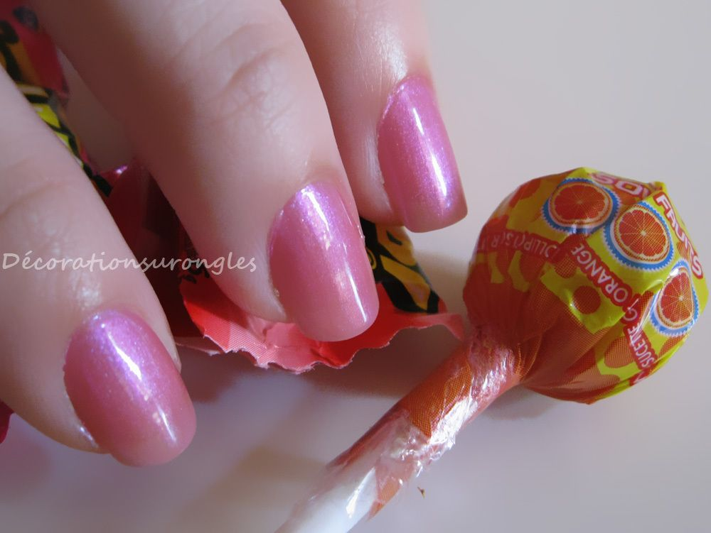 swatch nail polish pink