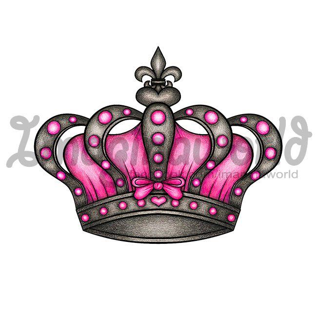 queens crown tattoo by imaginaworld deviantart com on deviantart rh pinterest com princess crown tattoos tumblr princess crown tattoos tumblr