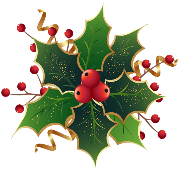 Christmas Holly Mistletoe Png Clip Art Image Christmas Holly Images Christmas Stencils Christmas Drawing