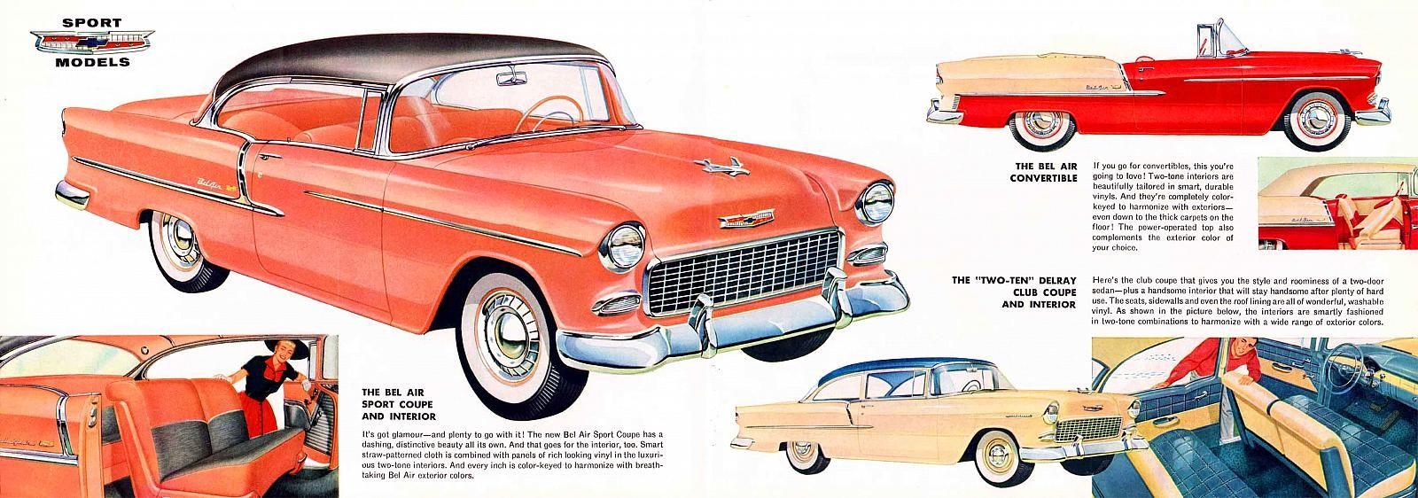 1955 Chevrolet Full Line B 06 07 1955 Chevrolet Chevrolet Chevy Models
