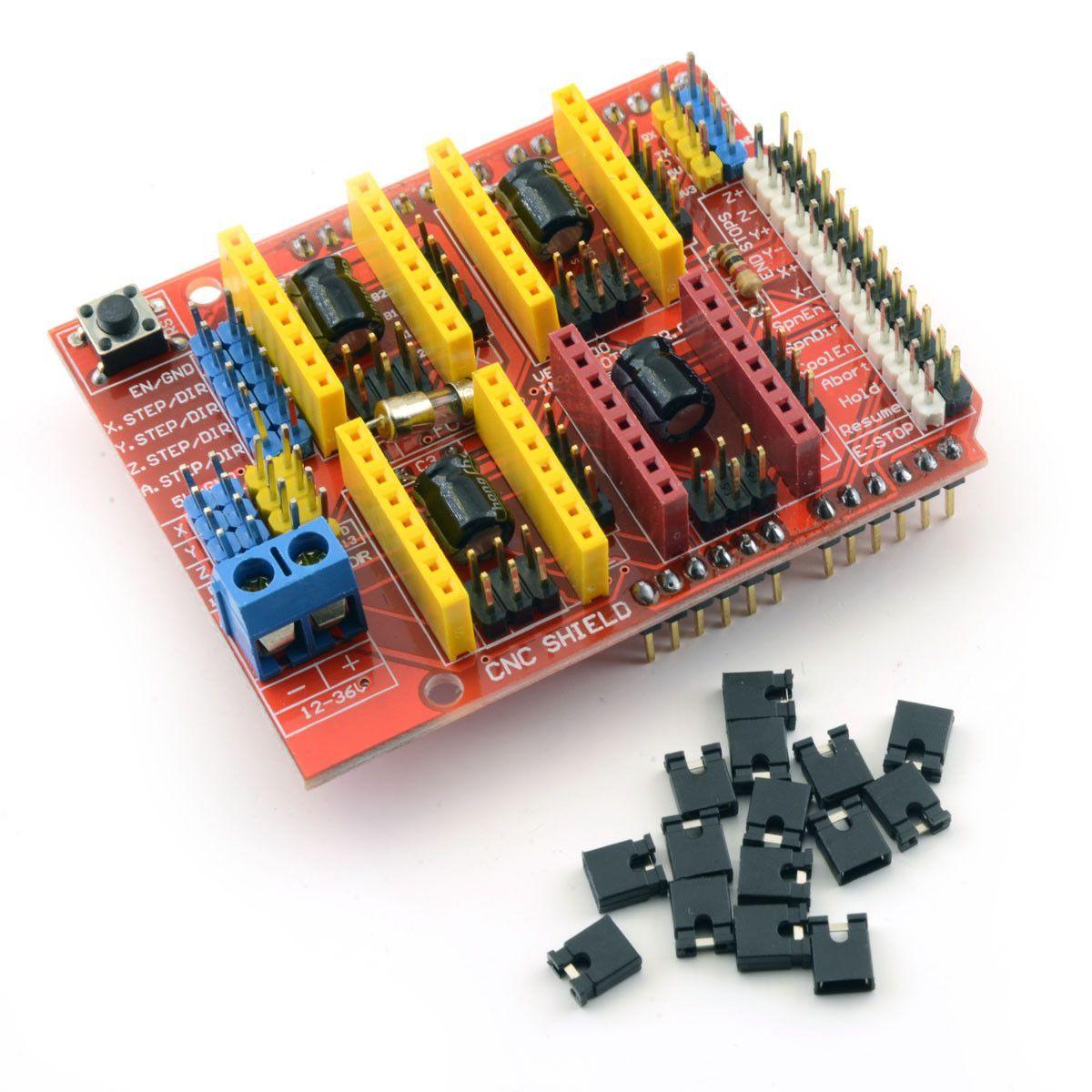 medium resolution of assembled cnc v3 arduino shield for a4988 drv8825 stepsticks router mill robot
