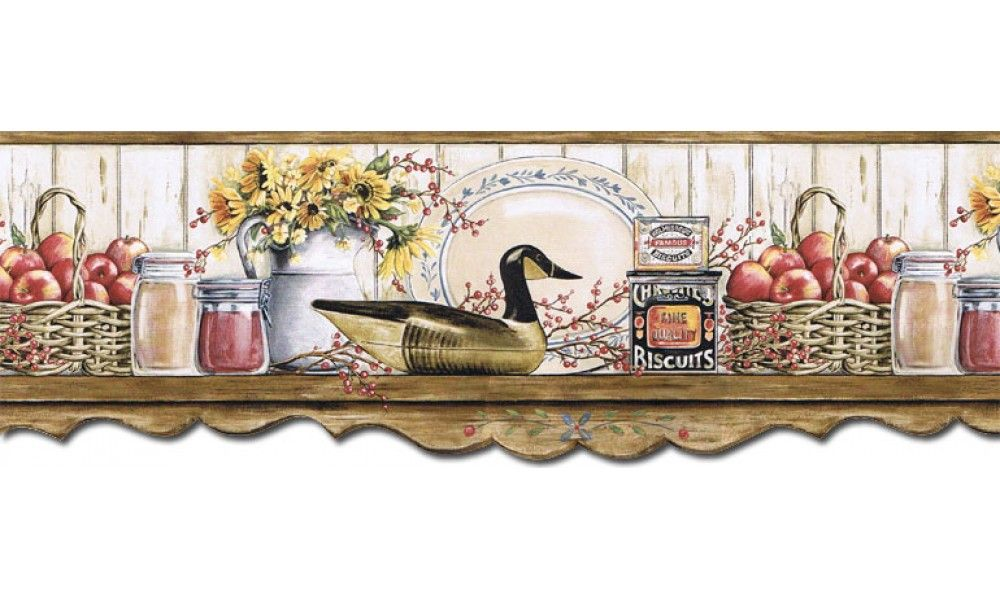 9 In X 15 Ft Prepasted Wallpaper Borders Kitchen Wall Paper Border B7127afr