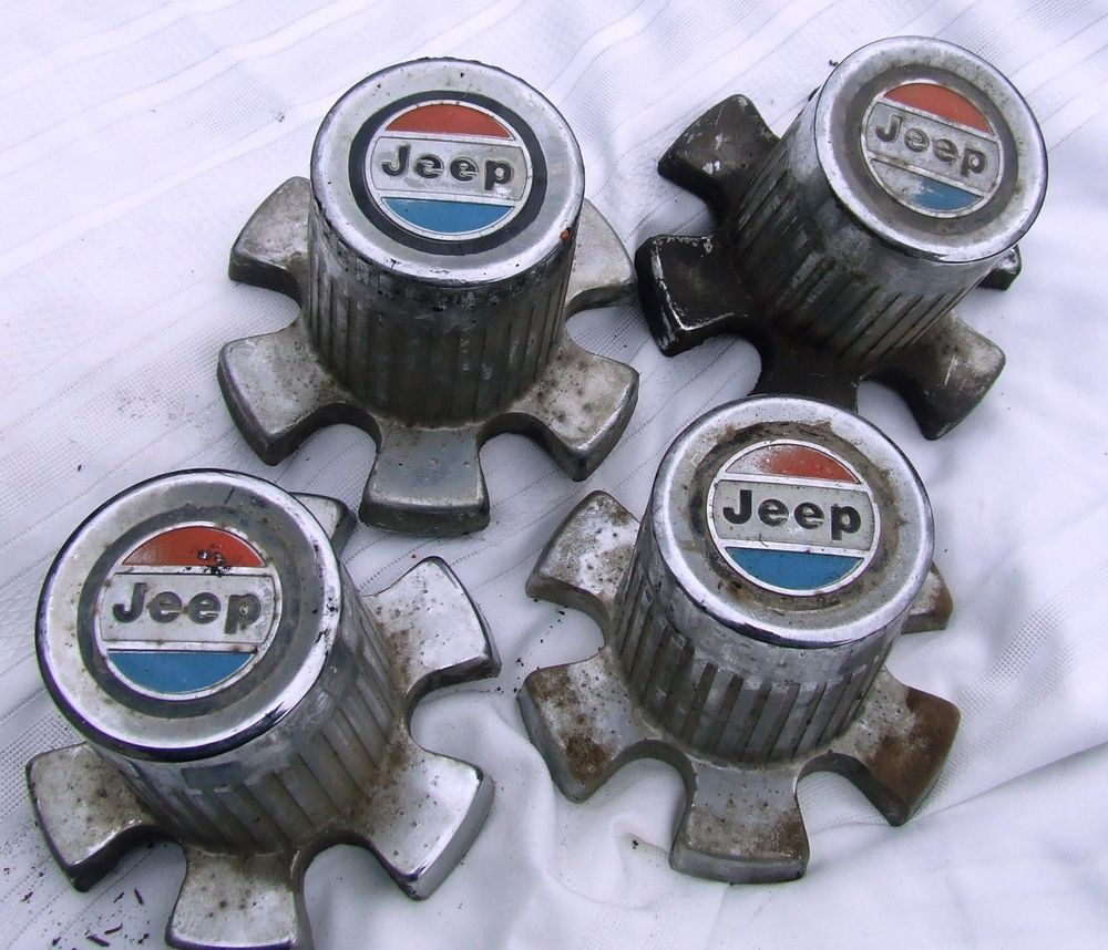 Vintage Jeep Wagoneer Cherokee J10 Hubcaps 1970s Wheel Center