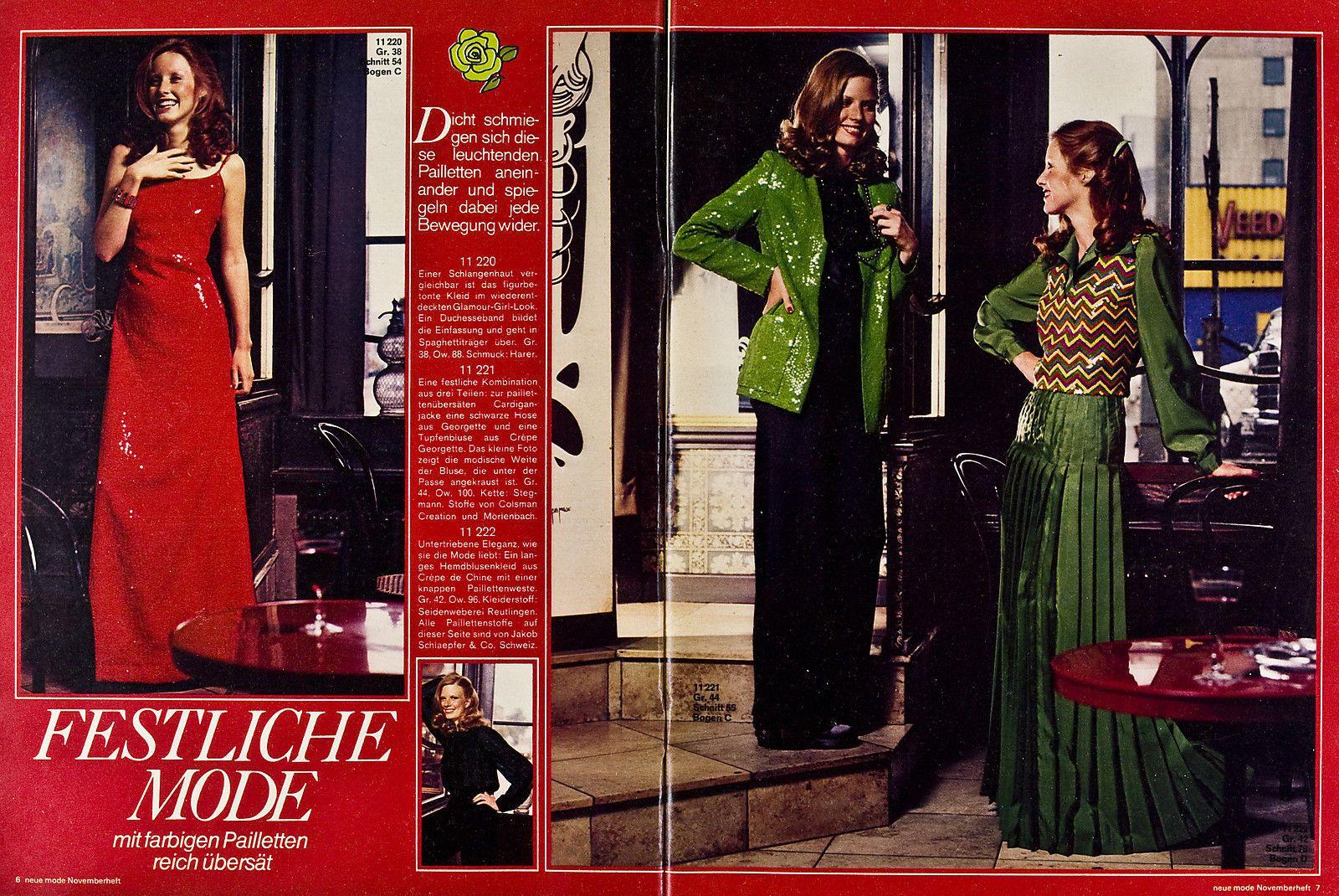 Neue Mode 11.1972 in Libros, revistas y cómics, Revistas, Moda y ...