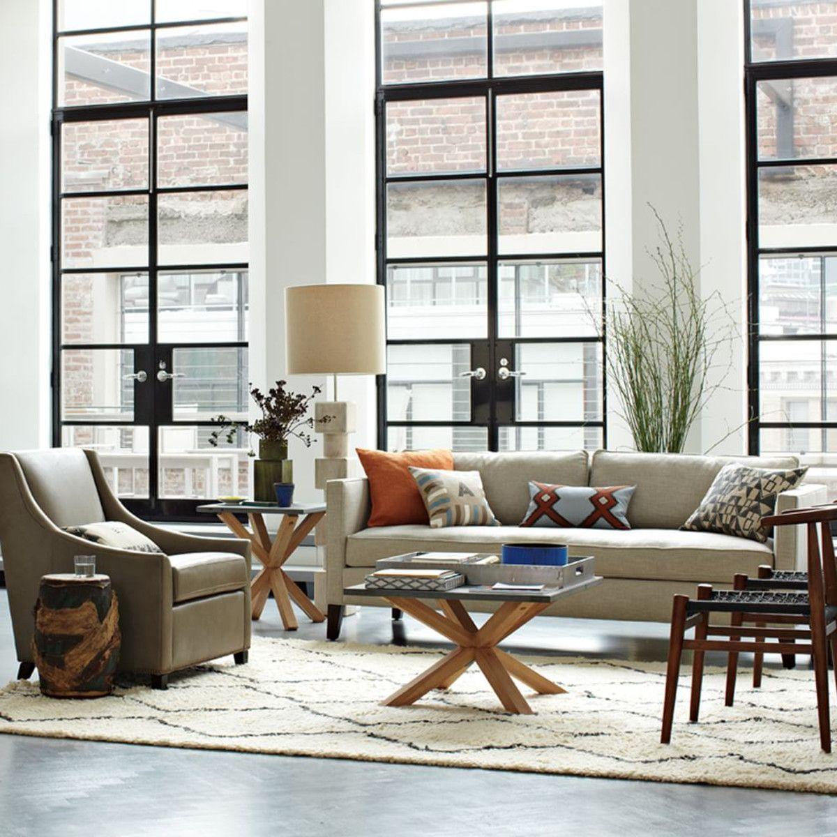Dunham Down Filled Sofa, Box Cushion   Pebble