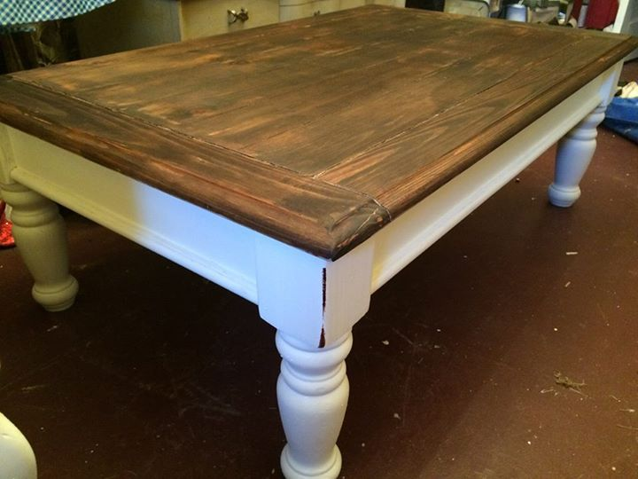 Click the link to see the before and after! coffee table painted makeover https://www.facebook.com/media/set/?set=a.1587510224800356.1073741857.1545346032350109&type=3