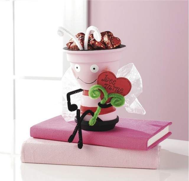 A Clay Pot Valentine Love Bee from Michael s. Popular homemade gifts include candles and bath salts, personalized photo frames, artsy fashion scarves, and candy containers that say you're extra sweet.